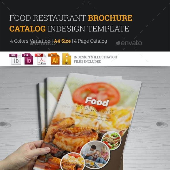 Food Restaurant Bifold Brochure InDesign Template