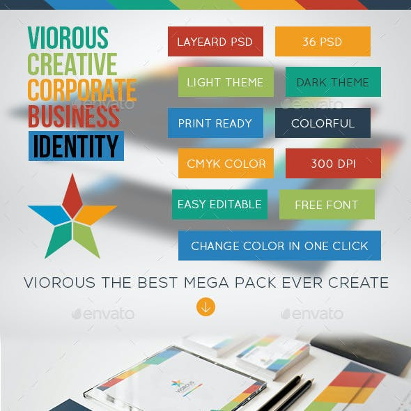 Viorous Corporate Stationary Identity