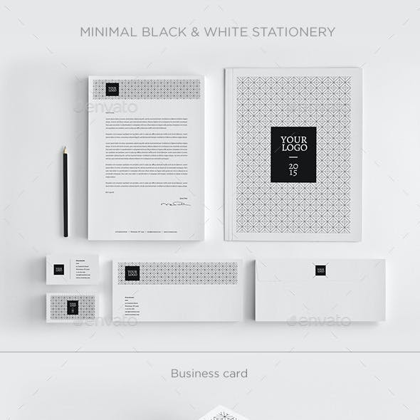 Minimal Black & White Stationery