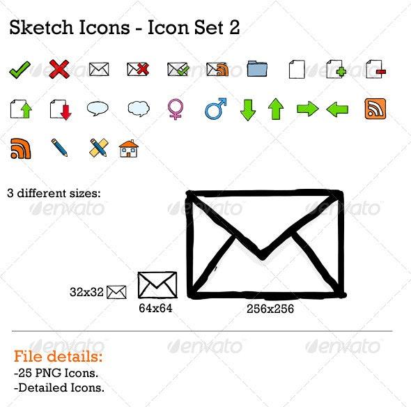 Sketch Icons 2 - Web Icons