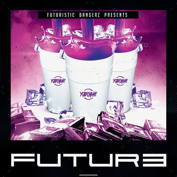 Future Drink Party   Hip-Hop Flyer PSD Template