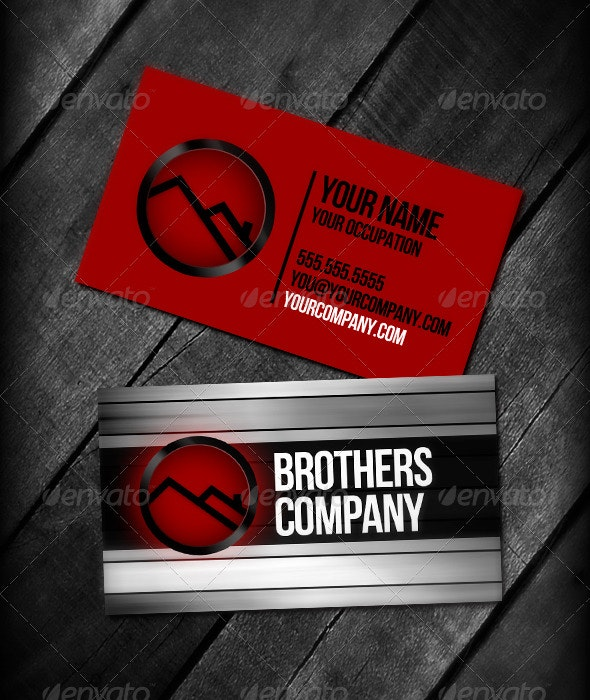 Brothers Red Business Cards - Creative Business Cards