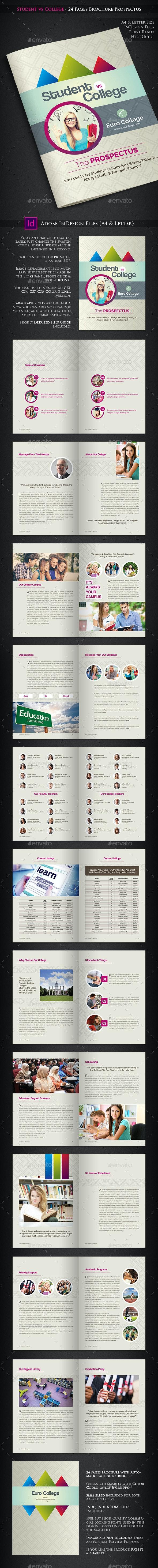 Student vs College - Prospectus - Catalogs Brochures