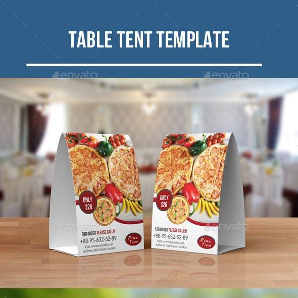 Food Menu Table Tent