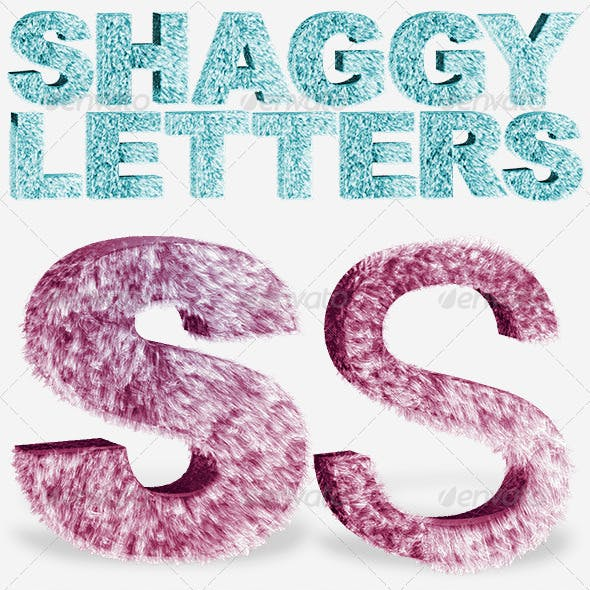 Shaggy Letters, Numbers and Signs