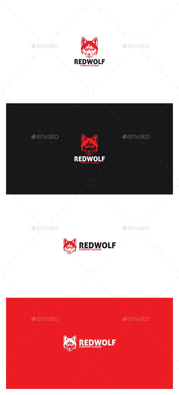Red Wolf Logo - Animals Logo Templates