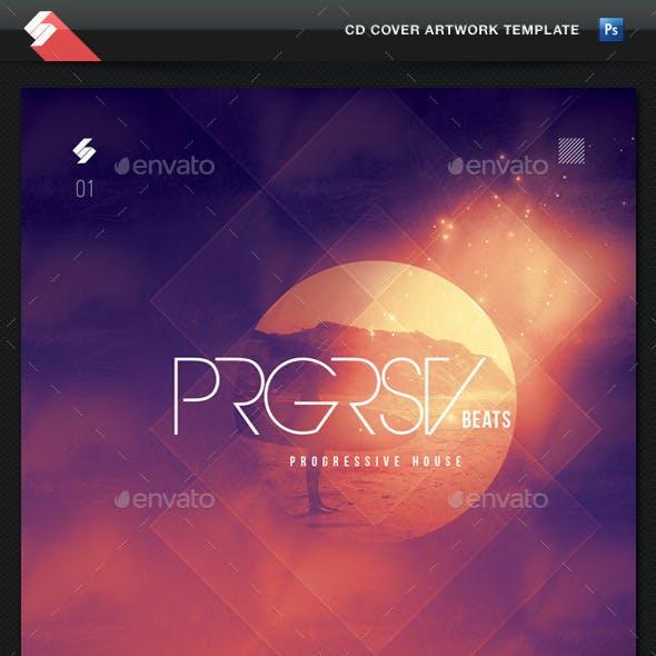 Progressive Beats vol1 - CD Cover Artwork Template