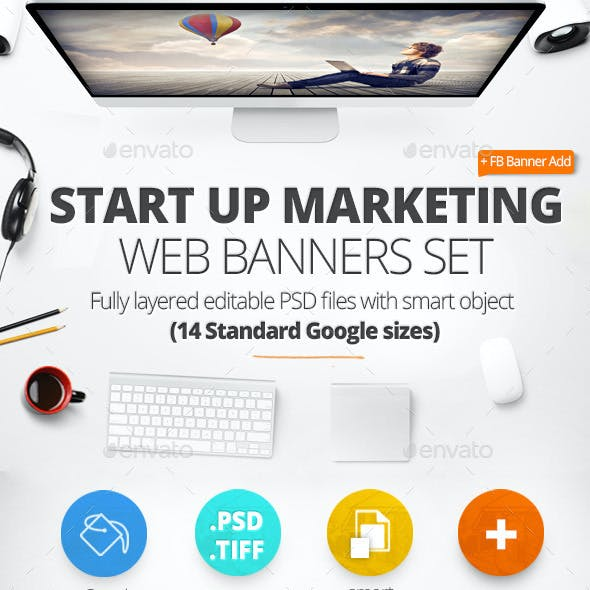Startup Marketing Web Banners & FB Banner
