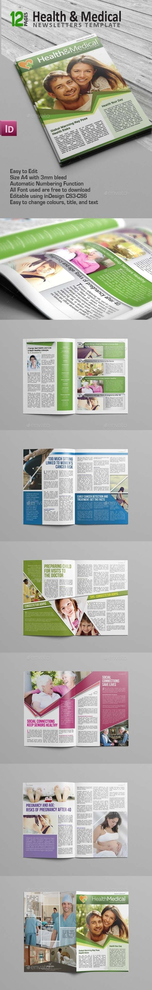 Health & Medical Newsletters - Newsletters Print Templates