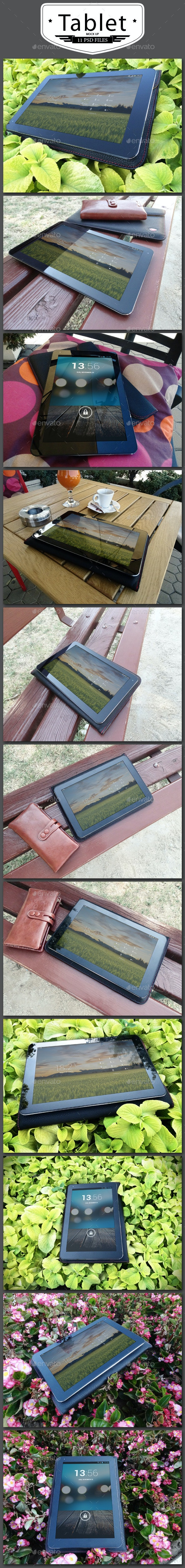 11 Tablet Mock Up - Product Mock-Ups Graphics