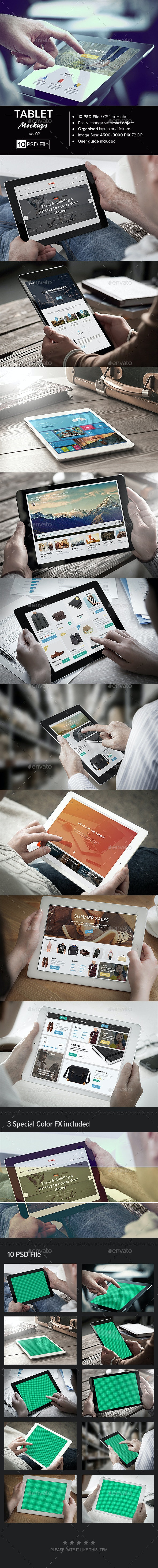 Tablet Mock-Up /Vol. 02 - Mobile Displays