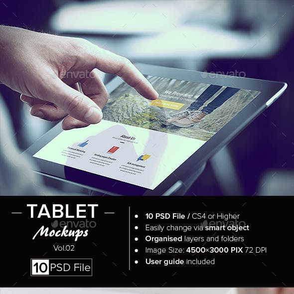 Tablet Mock-Up /Vol. 02