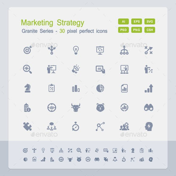 Marketing Strategy Icons - Granite Series