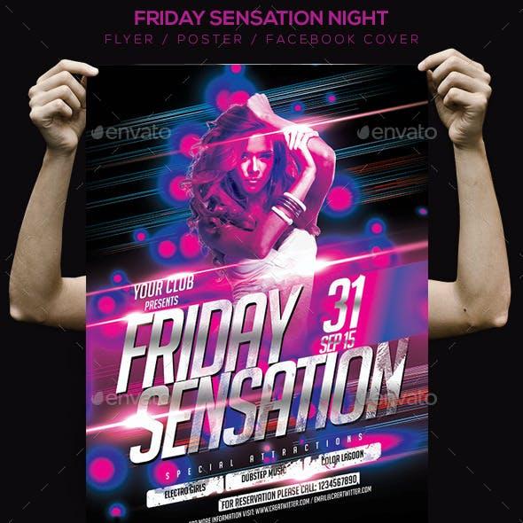 Friday Sensation Flyer / Poster / Facebook Cover