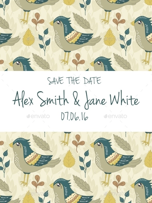 Save The Date Invitation Card - Weddings Seasons/Holidays