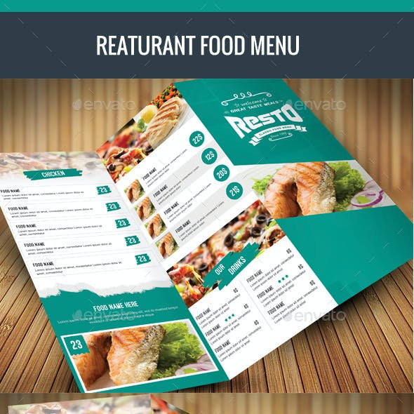 Trifold Food Menu