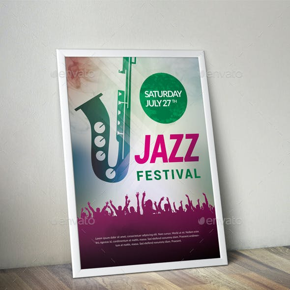 Jazz Festival Event Flyer