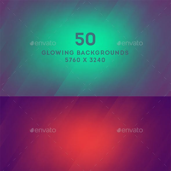 50 Glowing Backgrounds