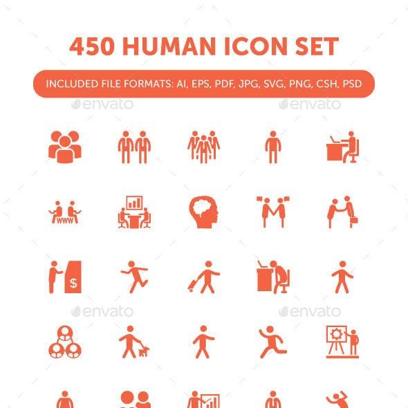 450 Human Icon Set