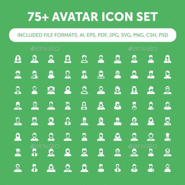75+ Avatar Icon Set