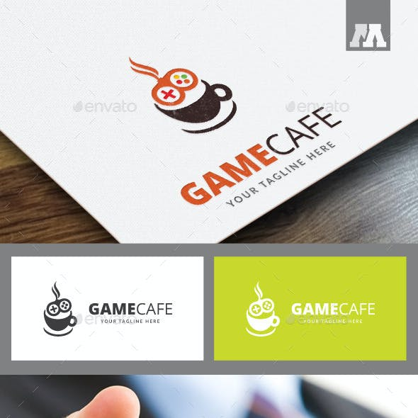 Game Cafe Logo Template
