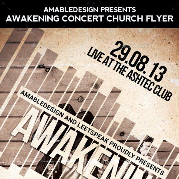 Awakening Concert Church Flyer