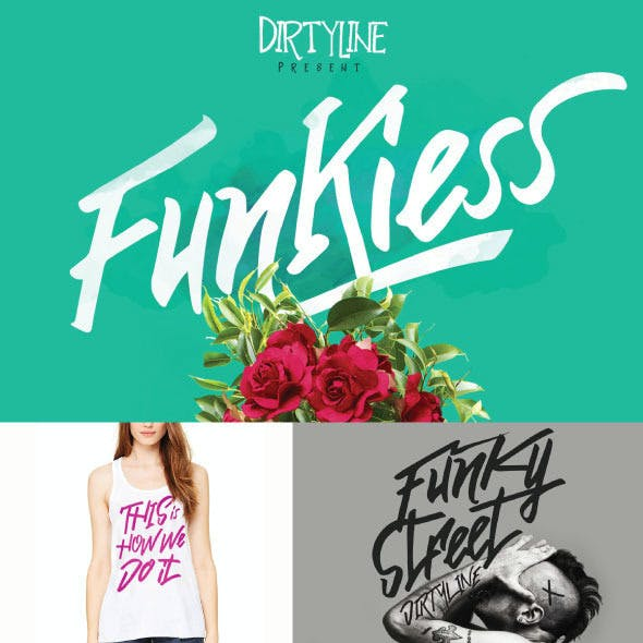 Funkiess Display typeface