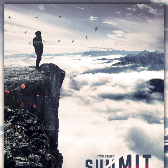 Summit - Hiking / Backpacking Flyer Template