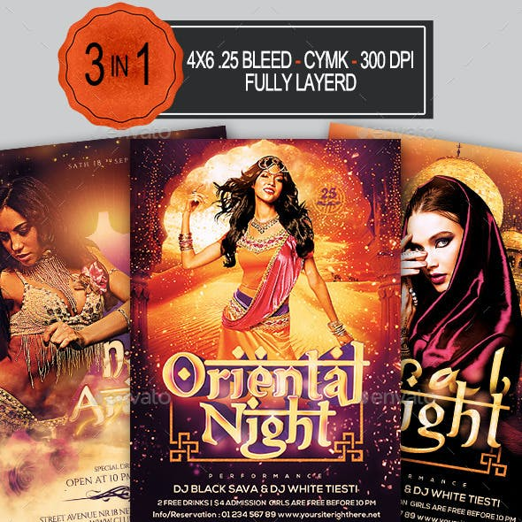 Arabian Nights Flyer Bundle