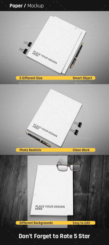 Paper Mock-Ups - Print Product Mock-Ups