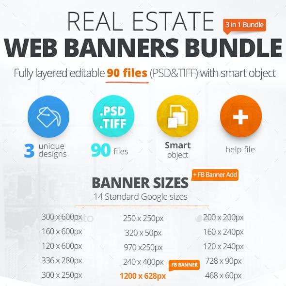 Real Estate Web Banners Bundle
