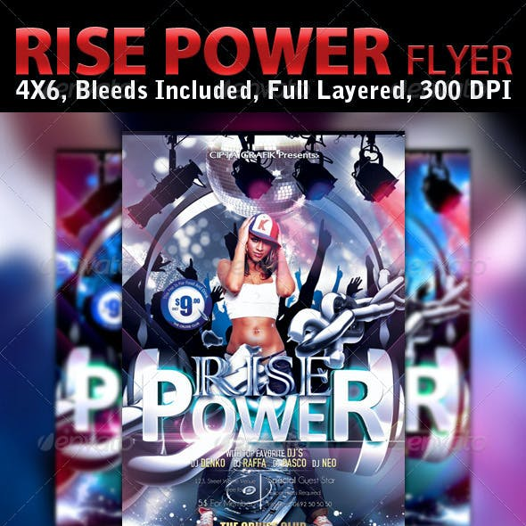 Rise Power Flyer Template