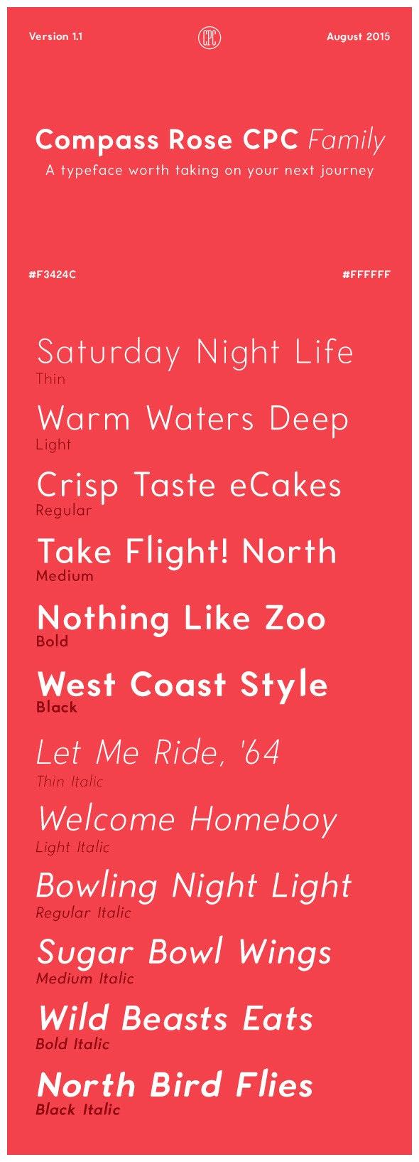 Compass Rose CPC - Sans-Serif Fonts