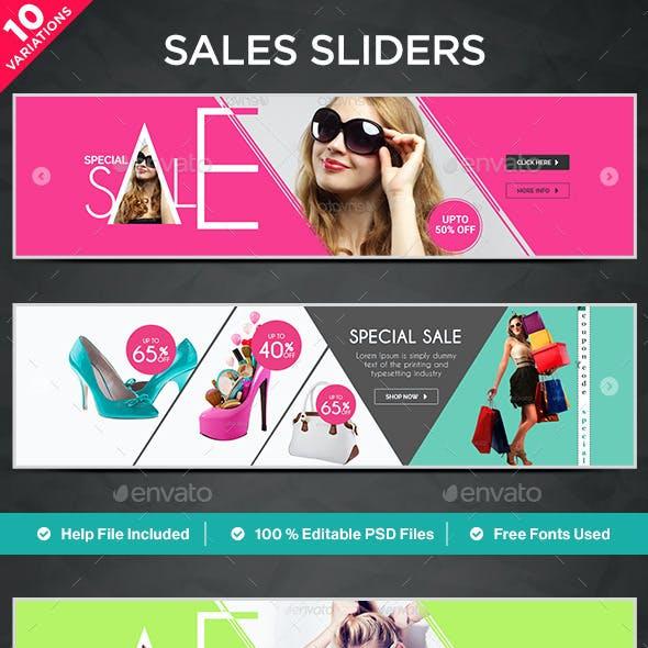Sales Sliders - 10 Designs