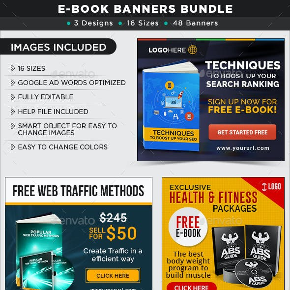 E-Book Banners Bundle - 3 Sets