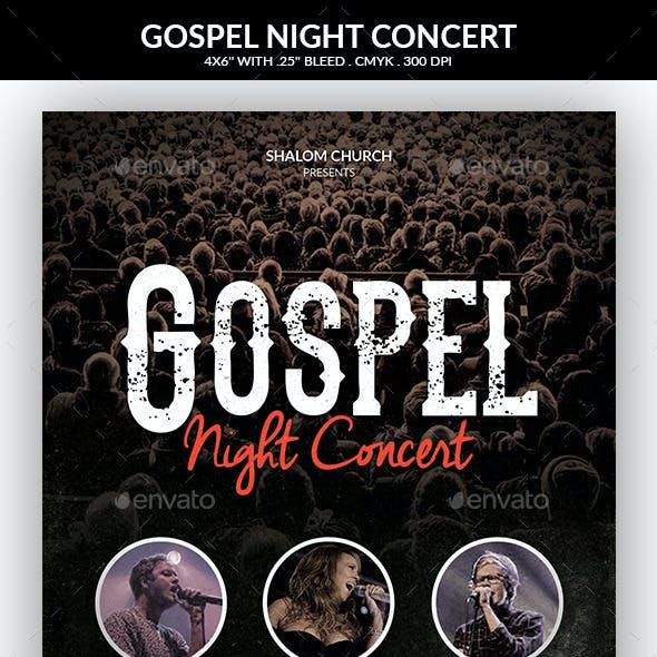 Gospel Night Concert Church Flyer