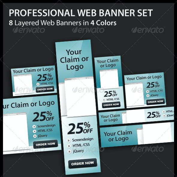 Professional Web Banner Set