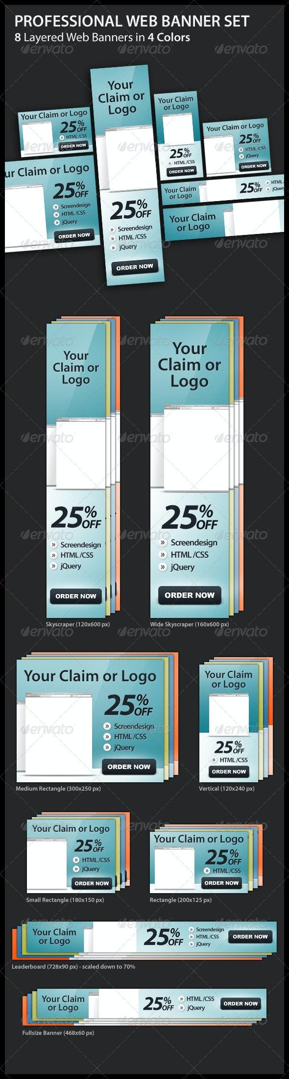 Professional Web Banner Set - Banners & Ads Web Elements