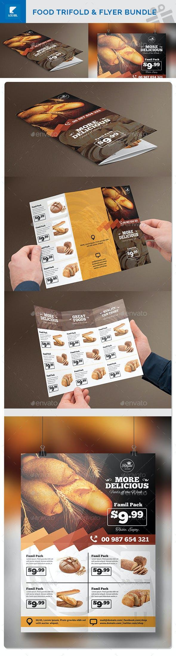 Food Trifold & Flyer Bundle