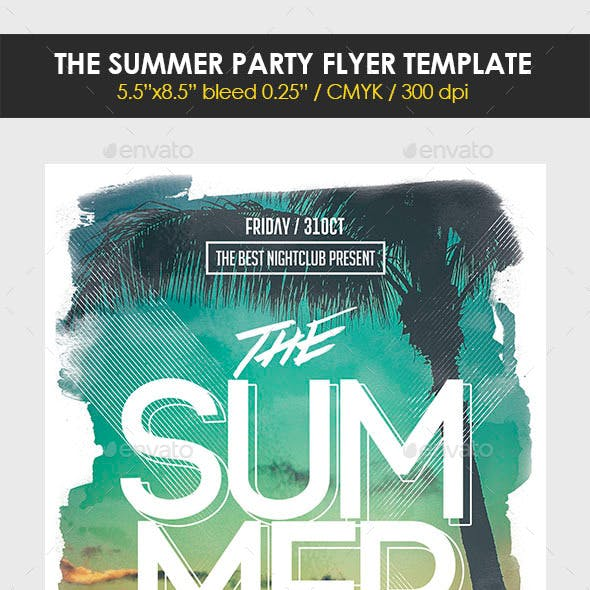 The Summer Party Flyer Template