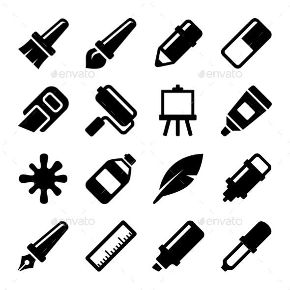 Art Icons Set. Vector