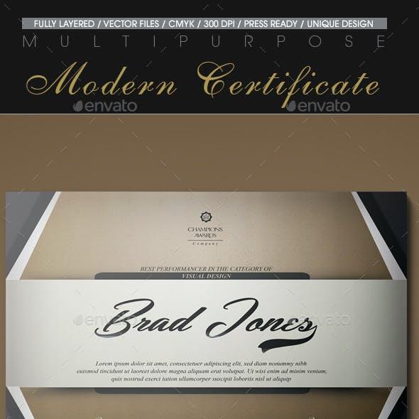 Multipurpose Modern Certificate v.17