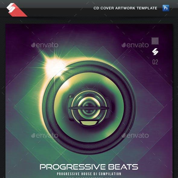Progressive Beats vol2 - CD Cover Artwork Template