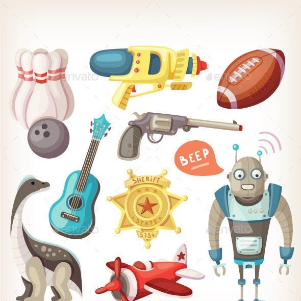 Set of Toys for Children