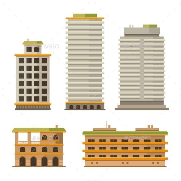 Business Center Buildings Set