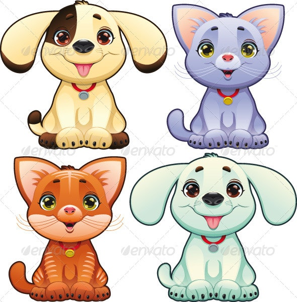 Dogs and cats - Animals Characters