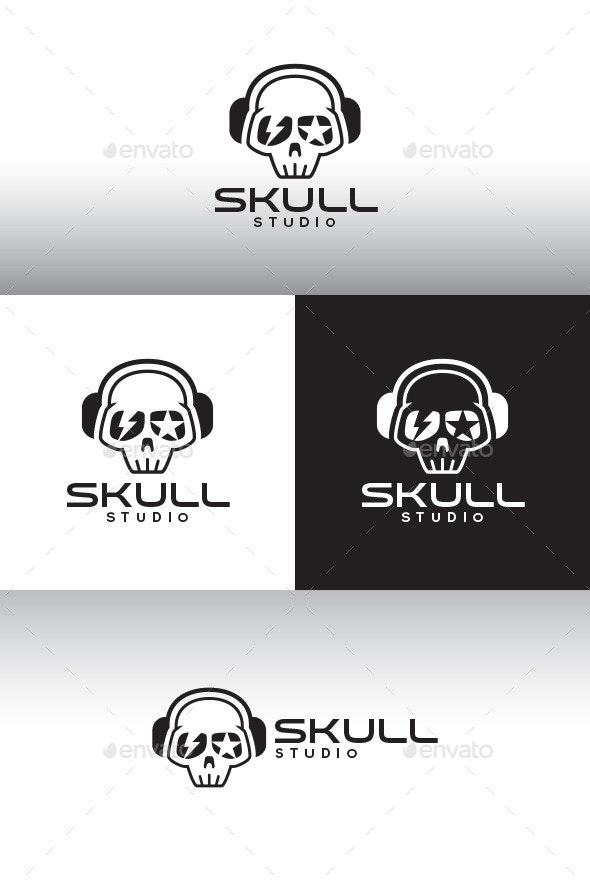 Skull Studio Logo Template - Humans Logo Templates