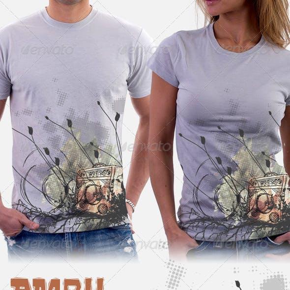 Amp 11 - Amplifier band T-Shirt Design