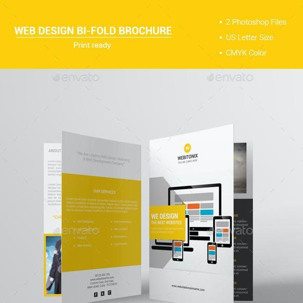 Web Design Bi-Fold Brochure V1
