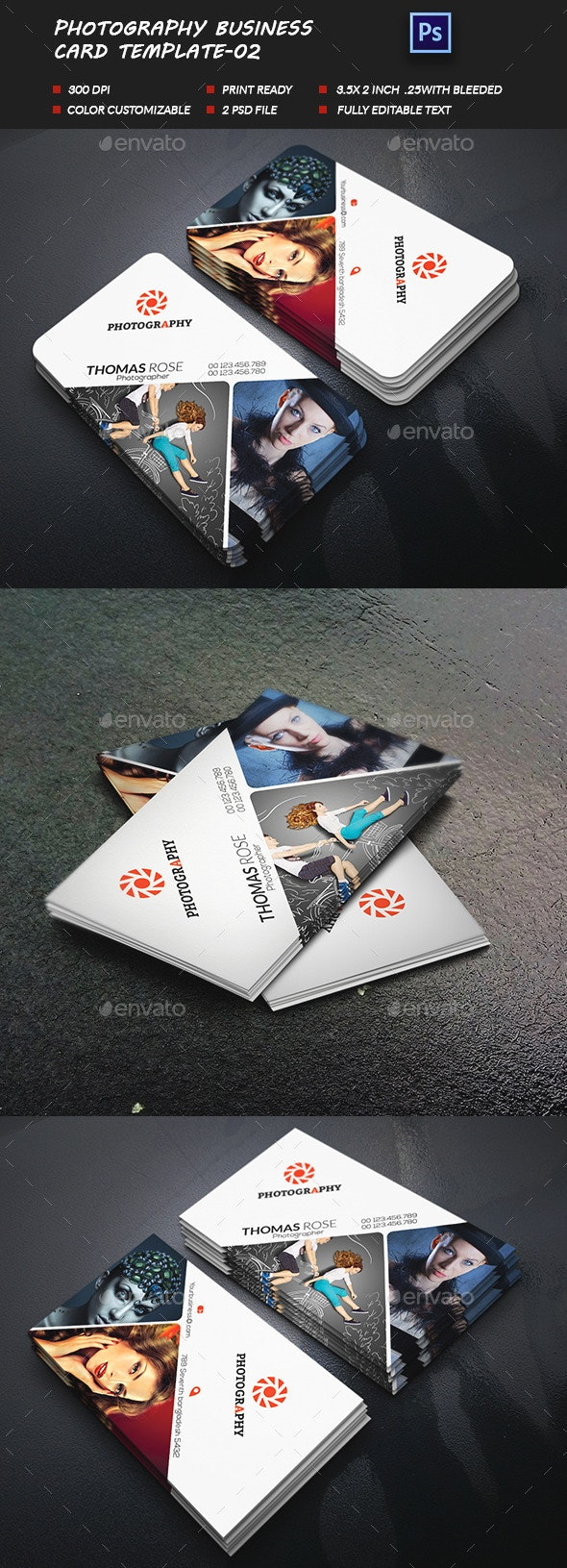 Photography Business Card-02 - Business Cards Print Templates